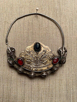 Rare Old Turkoman Yomud  Silver Gilded  Earring