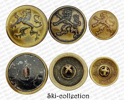 3 Buttons Army Belge. 1914-1918. 23/21/0 21/32in 1° GM / WW1°