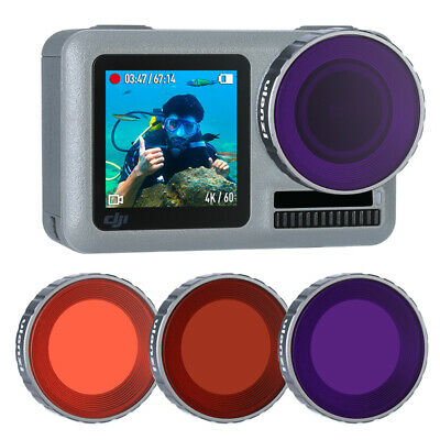ULANZI OA-9 Underwater Dive Filters Set Diving Snorkeling Filter for OSMO Action