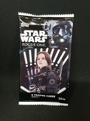Star Wars Rogue One Series 1 Trading Cards 6 Card Pack