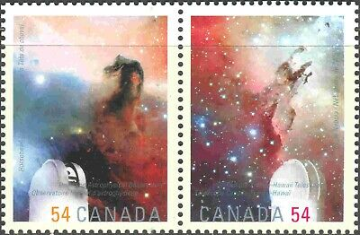 2009 Canada #2323a-b Mint NH Water-Activated Nebula, from the Souvenir Sheet