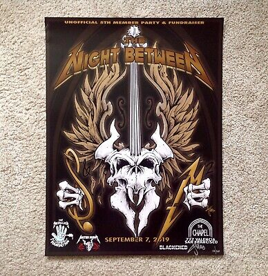 Metallica S&M2 The Night Between Squindo Poster RARE Fan Party 9/7 SEE PICS