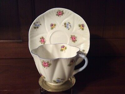 Vintage Shelley Rose Pansy Forget Me Not Dainty TeaCup and Saucer