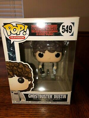 Stranger Things 2nd Season Dustin Ghostbusters POP Figure Toy #549 FUNKO