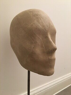 Proportion London Paper Maché Head Hat Display On Beechwood Stand