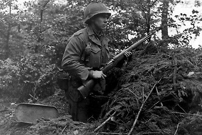 28th Infantry Division GI With Grenade and M1 Garand,