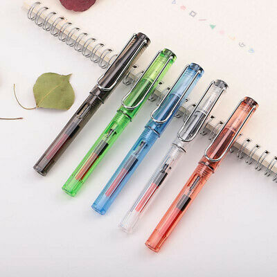 Transparent Parallel Art Calligraphy Fountain Pen 0.7/1.1/1.5/1.9/2.5/2.9mm Gift