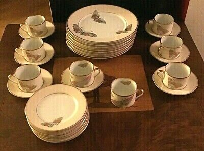 """Fitz and Floyd """"Papillion d'Oriente"""" Complete Set for 6 Diners, plus extra"""