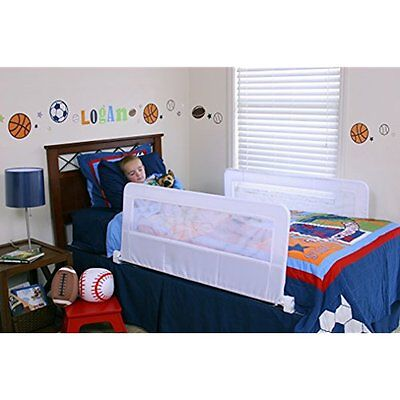 Swing Down Double Sided Bed Rail Guard, With Reinforced Anchor Safety System New