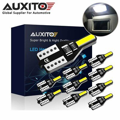 10x AUXITO T10 194 168 W5W License Plate Dome Map Light Bulb 6000K White CANBUS