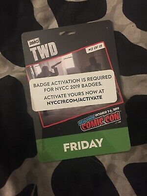Nycc New York Comic Con Friday Badge 2019 Sold Out Event