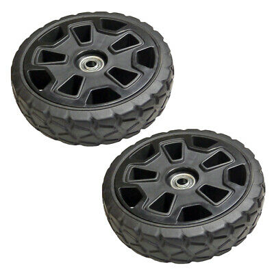 GreenWorks 2 Pack of Genuine OEM  8 Inch Mower Wheels # 341281179A-2PK