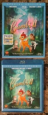 Bambi II (Blu-ray + DVD, 2011, 2-Disc Set, Special Edition, w/ Slipcover) Disney