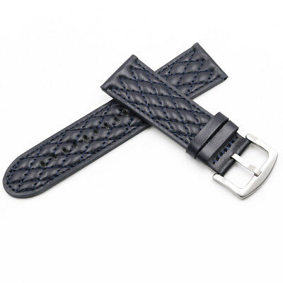 26mm Blue Genuine leather Watch Band FOR INVICTA RESERVE COLLECTION VENOM 6110