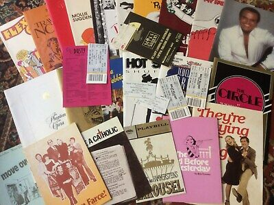 Bulk Lot Old Theatre Programmes And Tickets