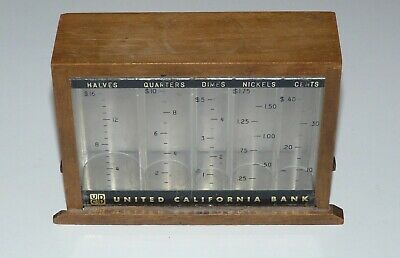 Vintage Coin Currency Bank UCB UNITED CALIFORNIA BANK - Made in U.S.A.