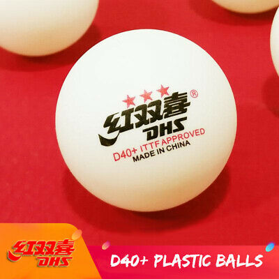 Double Happiness DHS D40+ 3Star Table Tennis Plastic PingPong Balls White Orange