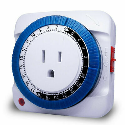 24 Hours Timer Socket Mechanical Program Timer Switch Wall Sockets Protector