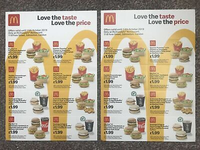 16 x McDonalds Meal Vouchers - Valid Until 13th October 2019