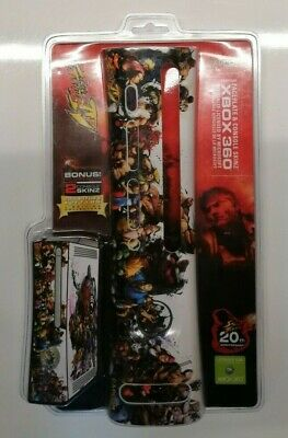 Mad Catz Xbox 360 Street Fighter IV Faceplate & Console Skinz for Xbox 360 NEW