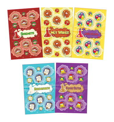 JFL Scratch N Sniff Stickers, More fun Foods, Pack of 280