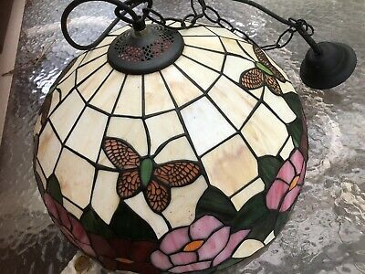 """Stained Glass Tiffany Style Ceiling Light Pendant 16"""" Lamp - Dining, Hall"""