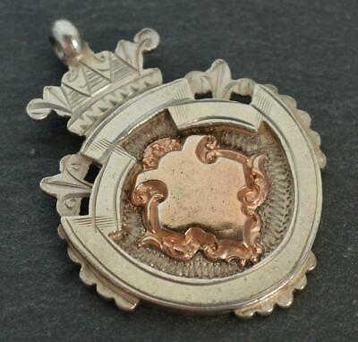 Lovely Antique Chester Solid Silver & 9ct Rose Gold Georgian Pendant/Watch Fob