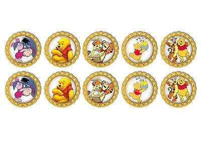 10x  Winnie The Pooh  Bottle Caps 1inch