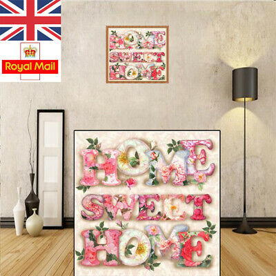 5D Diamond Painting Embroidery Cross Craft Stitch Pictures Arts Kits Sweet Home