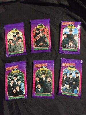 RARE Full Set Antique 6 Sealed Packets Of Beatles Trading Cards Mint 1993