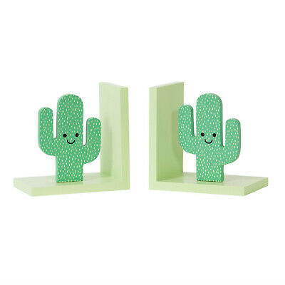 Happy Cactus Green Bookends by Sass & Belle