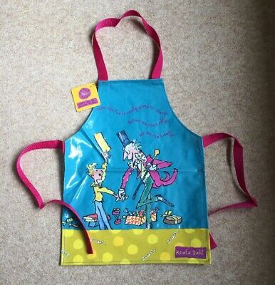 Childs Shreds Tie Apron Charlie Chocolate Factory Roald Dahl Boy Girl Unused Tag