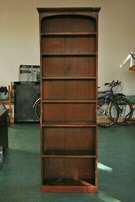 Victorian MAHOGANY AND PINE Bookcase SOLID WOOD 215CM TALL Collect - LE8