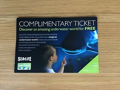 Family ticket to ANY SeaLife, 2 adults and 2 children, valid until 31st December