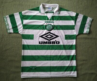 Celtic Scotland 1997/1998/1999 Home Football Shirt Umbro L Size