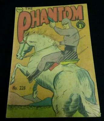 Frew Phantom Comic No. 228 Good condition 1962 Bagged & Boarded