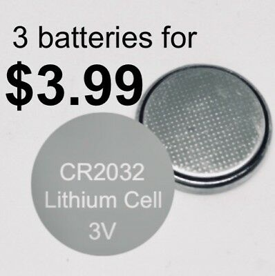 3 x CR2032 3V LITHIUM CELL BATTERY 5004LC 2032 BR2032 Long Life Button BATTERIES