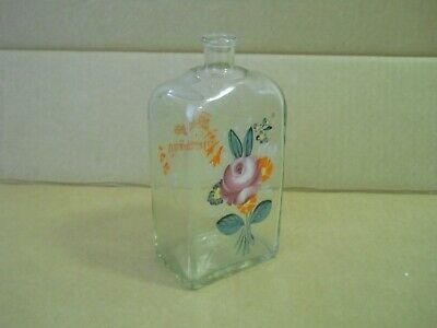 Stunning hand painted hand blown antique bottle 19th century