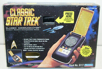 Classic Star Trek CLASSIC COMMUNICATOR Playmates 1994 Displayed Only 6117 TOS