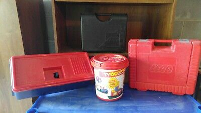 Antique lego storage containers
