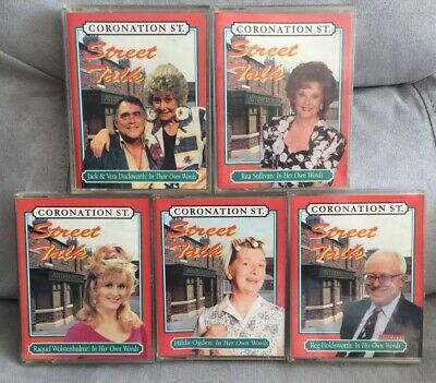 Coronation Street - 5 x Street Talk Cassettes Inc Hilda Ogden, Duckworths Etc