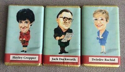 Coronation Street 3 x Character Chocolates 20 plus Yrs Old Do Not Eat