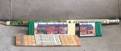 Coronation Street Set Of 6 Pencils In Street Scene Case Plus Large Pencil