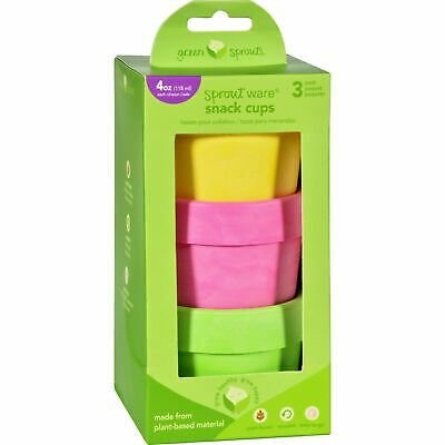 Green Sprouts Snack Cups 3Pk Pink Asstd Ct 2 Pack
