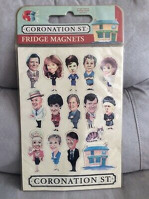 Coronation Street Set Of Unused Fridge Magnets Lots Of Characters