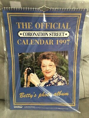 Coronation Street Large 1997 Calendar With Betty Cover