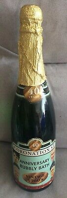 Coronation Street Anniversary Bubbly Bath 40 Years In Champagne Type Bottle