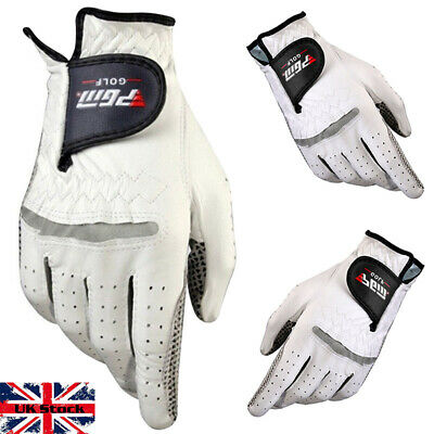 Men's All Weather Golf Gloves Cabretta Leather Palm Patch RIght or Left Hand UK