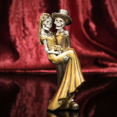 Day Of The Dead Newlywed Mexican Couple Skeleton  Figurine Gift Ornament Gothic
