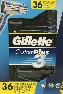 New Opened Gillette CustomPlus3 Disposable Razors, 36-Count
